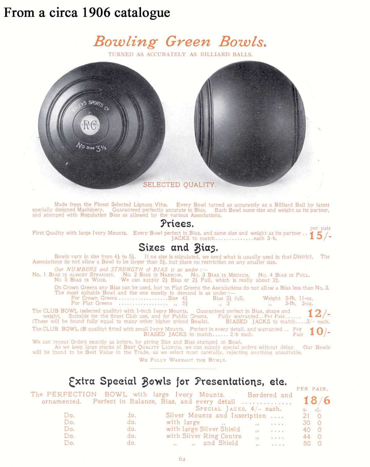 The sport of bowls article 2 re testing lawn bowls bowlsbias 1906 geenschuldenfo Choice Image